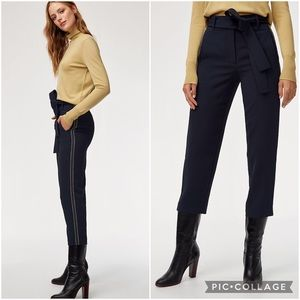 Aritzia Wilfred Jallade Pant Crepe Navy Blue